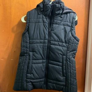 Brand New Black Puffer Vest with hood
